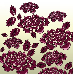 Black roses background isolated vector