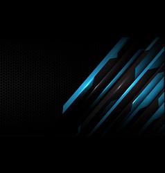 blue circuit metallic dark grey hexagon mesh vector image
