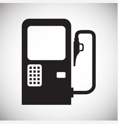 Car petrol station on white background for graphic vector