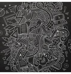 Cartoon Doodle education vector