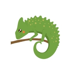 Chameleon Realistic Childish vector