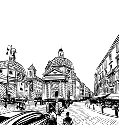 Cityscape Street sketch vector image