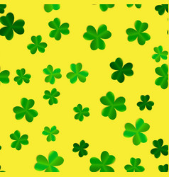 clover leaves seamless pattern background vector image