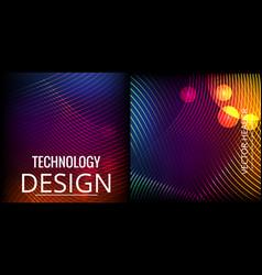 Colorful mosaic covers design minimal geometric vector