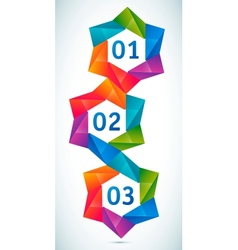 colorful shapes composition vector image