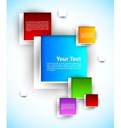 Colorful squares vector image