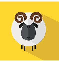 Cute Ram Background vector image