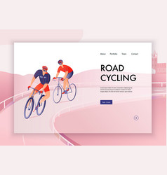 cycling tour web banner vector image