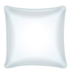 Decorative white throw pillow vector