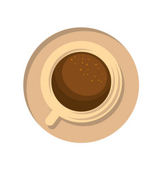 Delicious cup of coffee vector