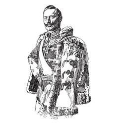 Emperor william ii vintage vector