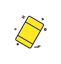 eraser icon design vector image