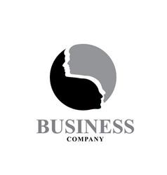 face yin and yang logo designs consultation vector image