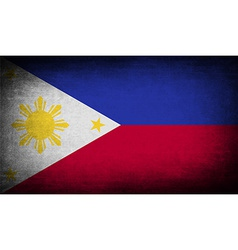 Flag of Philippiines with old texture vector