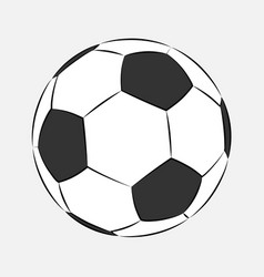football soccer ball icon isolated on white vector image