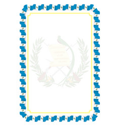 Frame and border of ribbon with guatemala flag vector