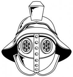 Gladiator helmet illustration vector