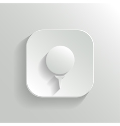 Golf icon - white app button vector image