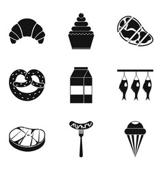 Grease icons set simple style vector