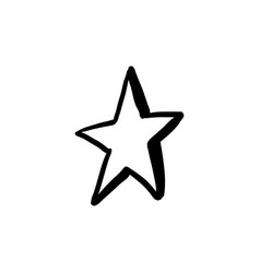 Halloween doodle star element isolated vector