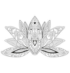 Hand drawn magic flower for adult anti stress vector