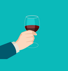 hand holding a wine glass vector image