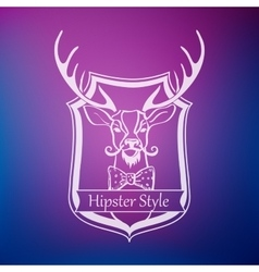 Hipster style label vector image