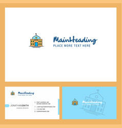 hotel logo design with tagline front and back vector image