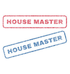 House master textile stamps vector