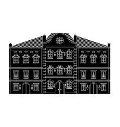 houses old european buildings black drawing vector image