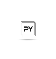 Initial letter py logo template design vector