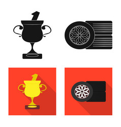Isolated object car and rally logo collection vector