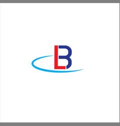 L b letter logo abstract design vector