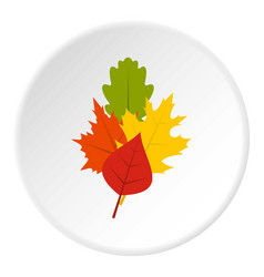 Leaves icon circle vector