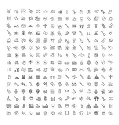 Line arts icons set linear icons vector