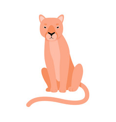 Lioness is sitting on a white vector