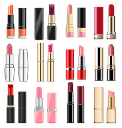 lipstick icons vector image