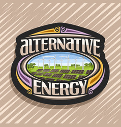 logo for alternative energy vector image