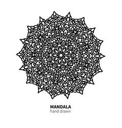 mandala flower drawing decorative boho vector image