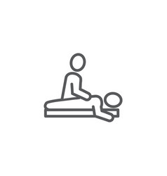 massage line icon on white background vector image