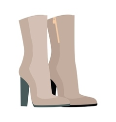 Pair of Boots in Flat Design vector