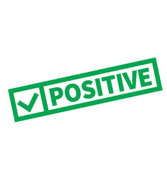 Positive typographic stamp vector