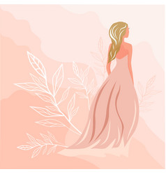 romantic girl fashion vector image