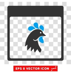 Rooster Head Calendar Page Eps Icon vector image