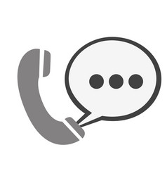 Round symbol call phone with chat bubble icon vector