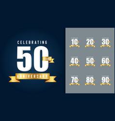 set of anniversary logotype anniversary vector image