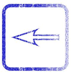 Sharp arrow left framed textured icon vector