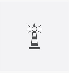 simple lighthouse icon vector image