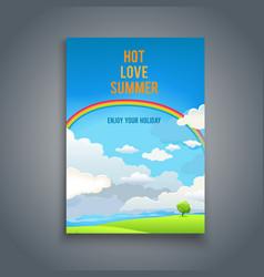 summer blank with rainbow vector image