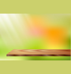 Sunlight wood shelf vector